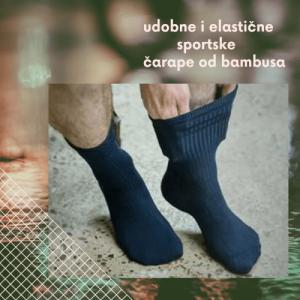 sportske čarape od bambusa