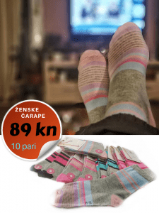 ženske pamučne čarape
