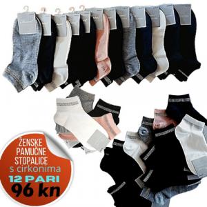 jenobojne stopalice s cirkonima